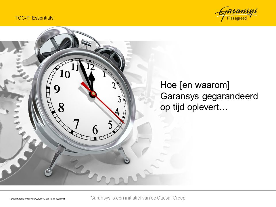 Garansys is een initiatief van de Caesar Groep © All material copyright Garansys.