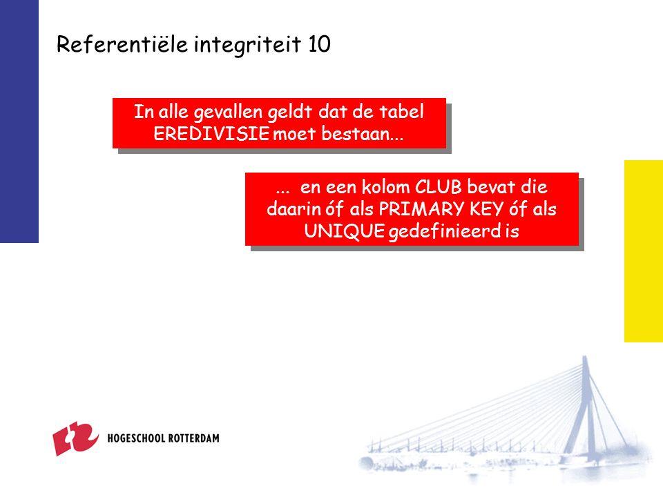 Referentiële integriteit 10...