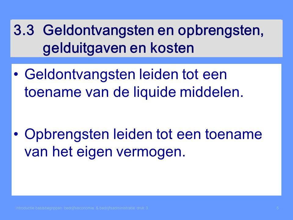 Introductie basisbegrippen bedrijfseconomie & bedrijfsadministratie druk 336 3.10Opbrengsten Voorbeeld: Verhuur pand.