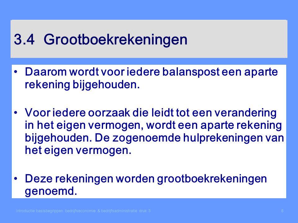 Introductie basisbegrippen bedrijfseconomie & bedrijfsadministratie druk 39 3.4Grootboekrekeningen