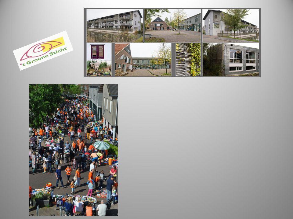 Ontstaan van 't Groene Sticht 1997- zakendoen conferentie werkgroep de Rafelrand Weerstand in de buurt tegen projecten voor dak en thuislozen Oplossing: bouw een eigen buurt: - draagvlak in directe omgeving door onze eigen buren te organiseren - de mogelijkheid om meerdere functies op het gebied van wonen en werken te combineren