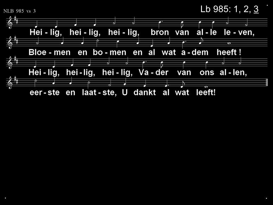Votum (175b) Zegengroet De zegengroet mogen we beantwoorden met het gezongen amen Zingen: Gezang 147 in wisselzang....