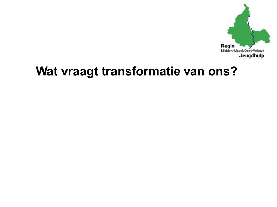 Wat vraagt transformatie van ons?