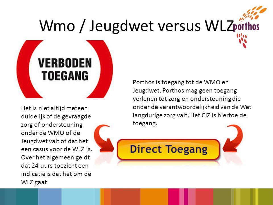 Wmo / Jeugdwet versus WLZ Porthos is toegang tot de WMO en Jeugdwet.