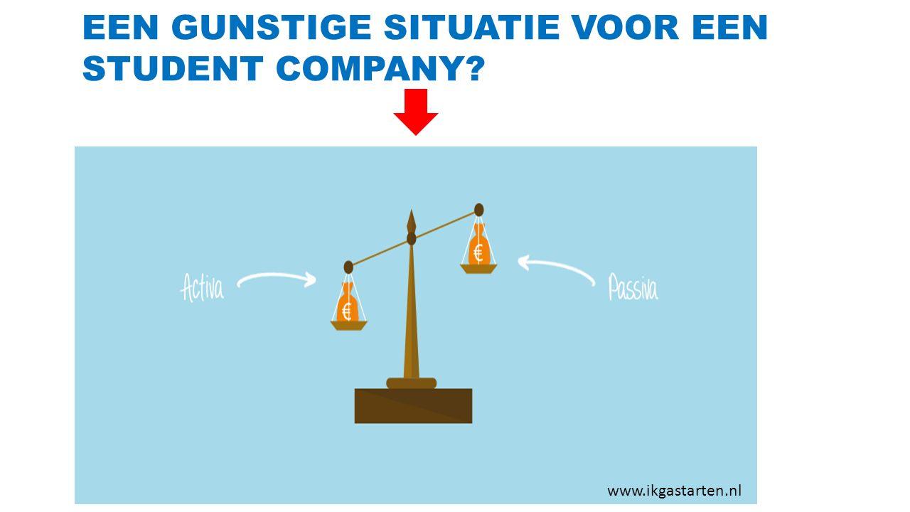 EEN GUNSTIGE SITUATIE VOOR EEN STUDENT COMPANY? www.ikgastarten.nl