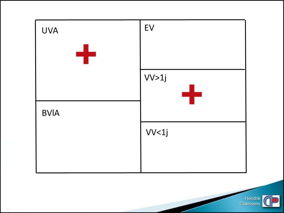 UVA BVlA EV VV<1j VV>1j