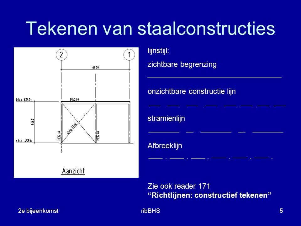 """2e bijeenkomstribBHS5 lijnstijl: zichtbare begrenzing onzichtbare constructie lijn stramienlijn Afbreeklijn Zie ook reader 171 """"Richtlijnen: construct"""