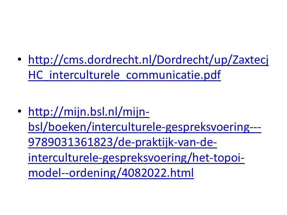 http://cms.dordrecht.nl/Dordrecht/up/Zaxtecj HC_interculturele_communicatie.pdf http://cms.dordrecht.nl/Dordrecht/up/Zaxtecj HC_interculturele_communicatie.pdf http://mijn.bsl.nl/mijn- bsl/boeken/interculturele-gespreksvoering--- 9789031361823/de-praktijk-van-de- interculturele-gespreksvoering/het-topoi- model--ordening/4082022.html http://mijn.bsl.nl/mijn- bsl/boeken/interculturele-gespreksvoering--- 9789031361823/de-praktijk-van-de- interculturele-gespreksvoering/het-topoi- model--ordening/4082022.html