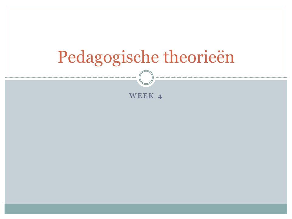 WEEK 4 Pedagogische theorieën