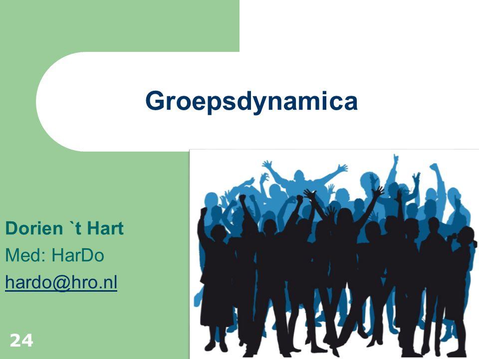 Dorien `t Hart Med: HarDo hardo@hro.nl Groepsdynamica 24