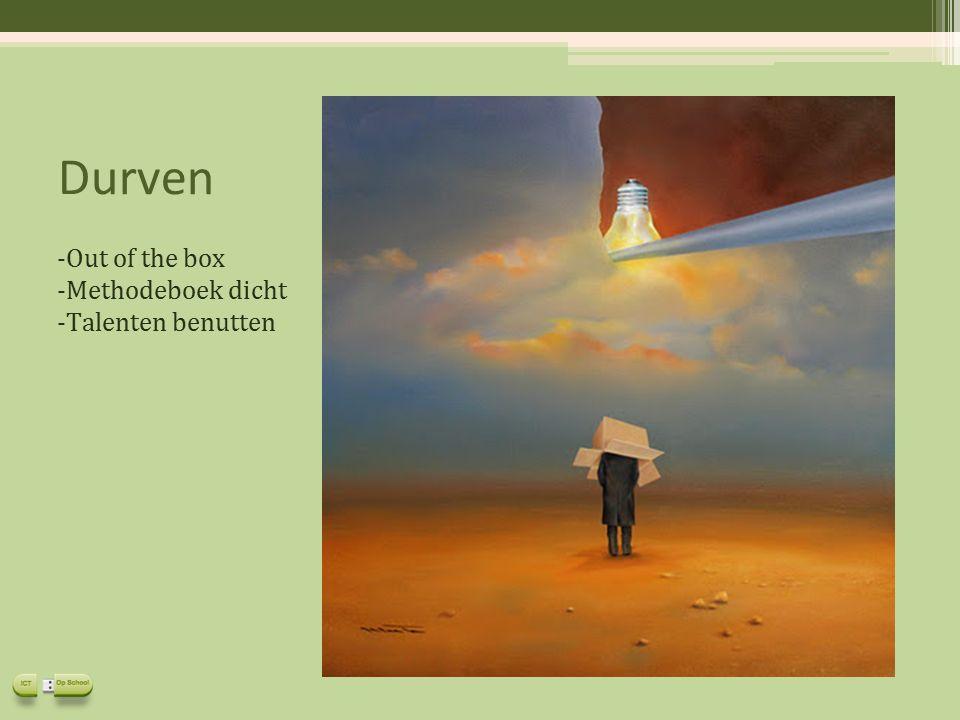 Durven -Out of the box -Methodeboek dicht -Talenten benutten