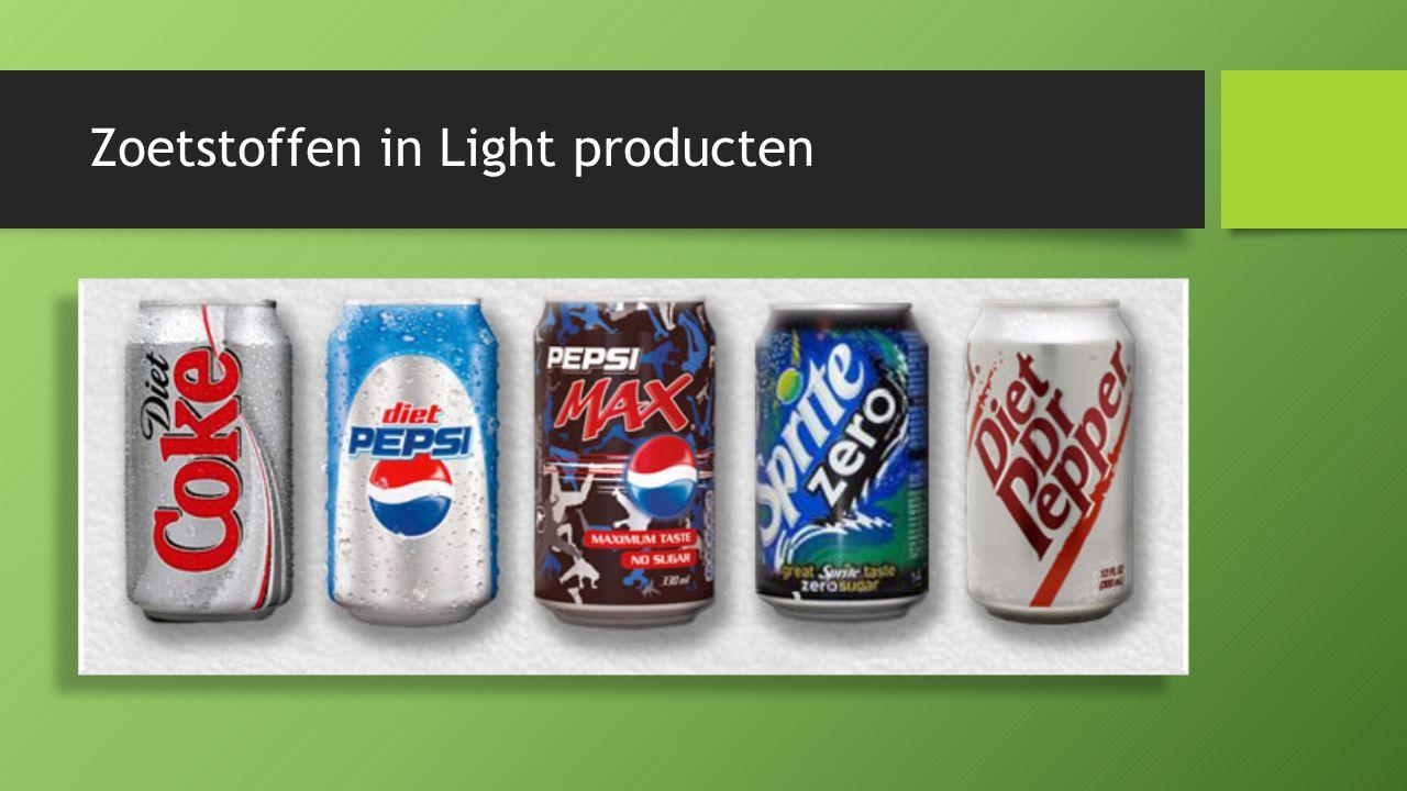 Zoetstoffen in Light producten