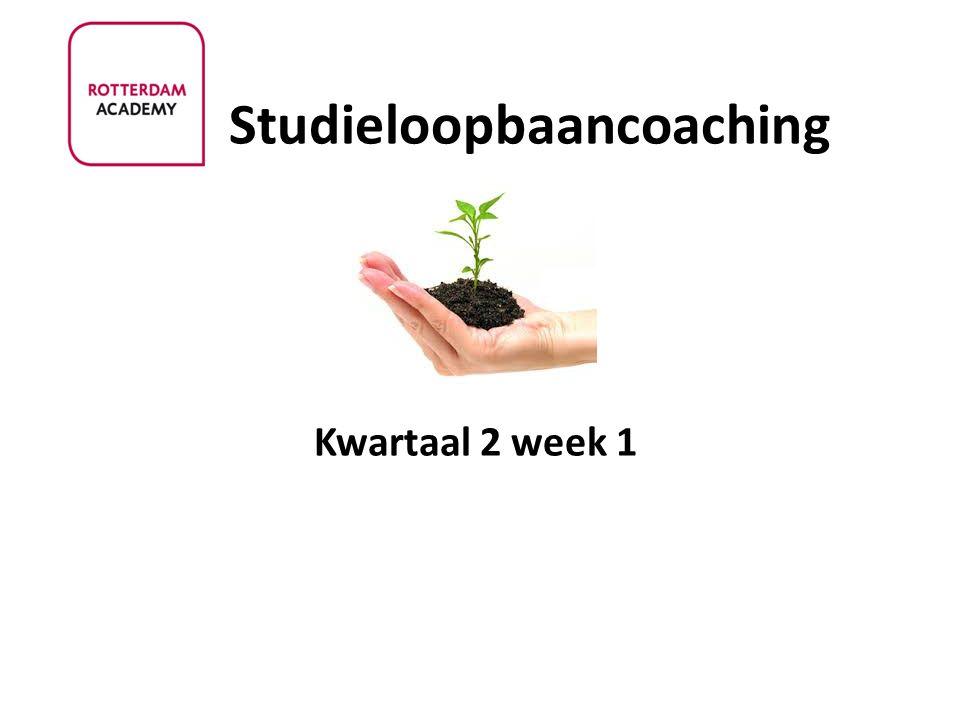 Studieloopbaancoaching Kwartaal 2 week 1