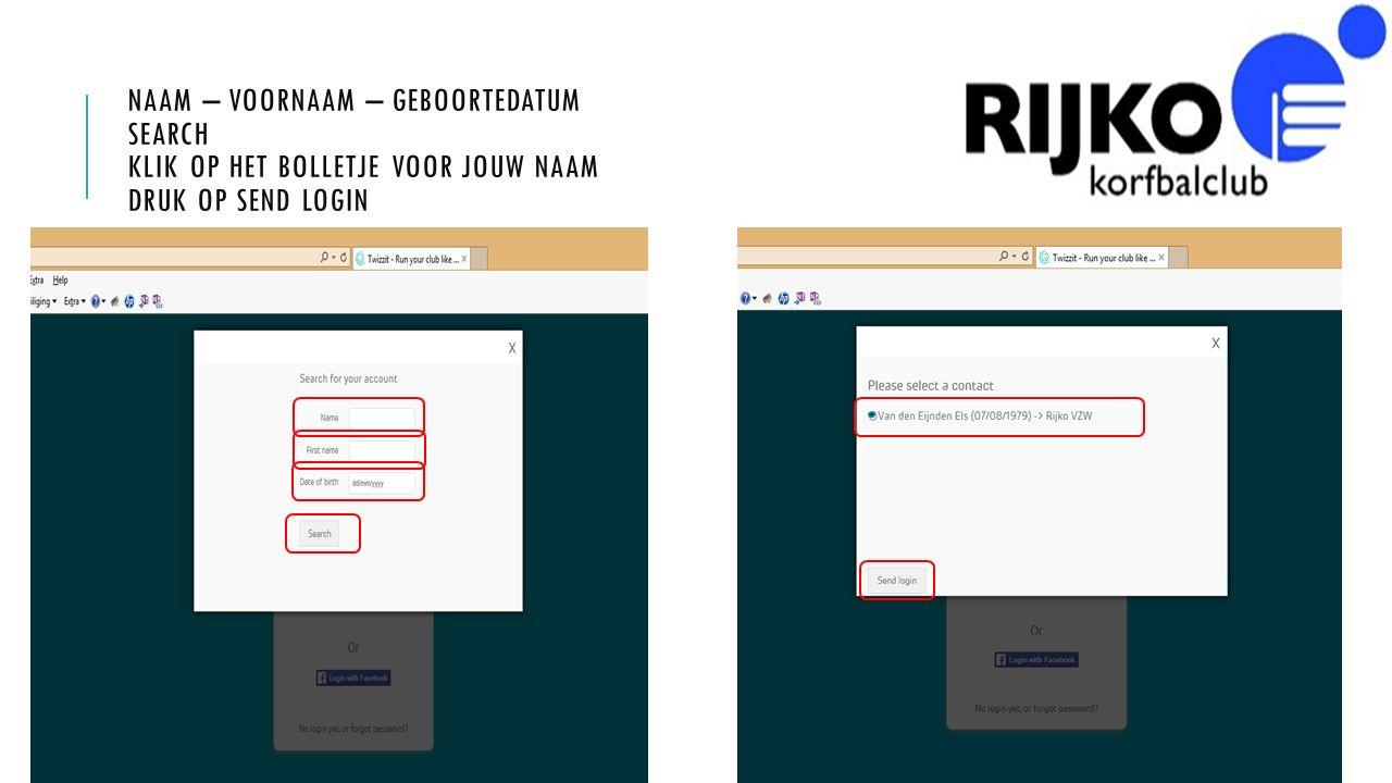 CONTROLEER JE MAIL OP HET ADRES DAT DE CLUB VAN JOU HEEFT LET OP!!.