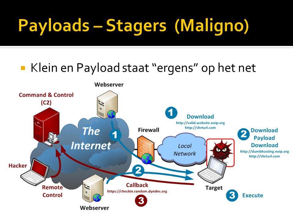  Klein en Payload staat ergens op het net