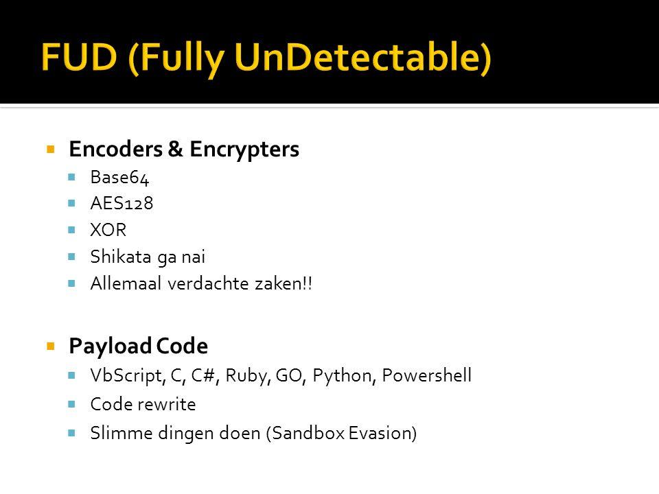  SandBox  Virtuele omgeving om payload te testen  Wat gaat de payload doen.