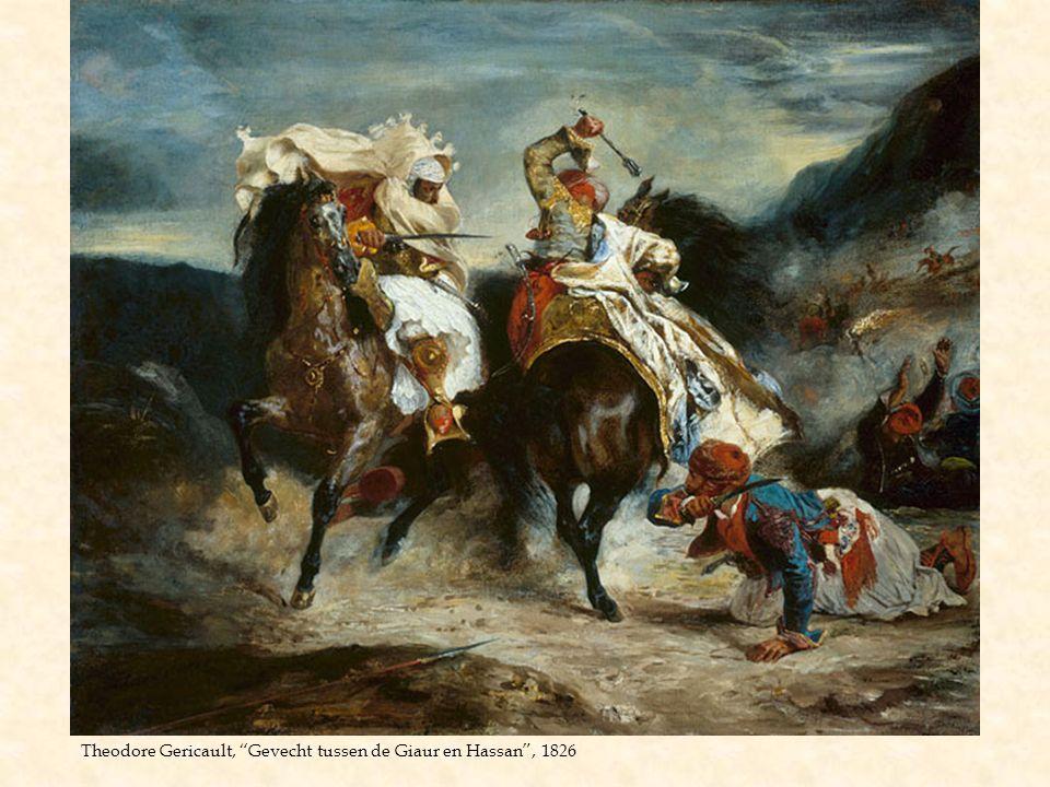 """Theodore Gericault, """"Gevecht tussen de Giaur en Hassan"""", 1826"""