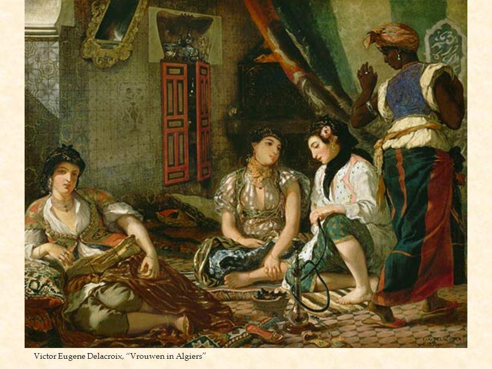 """Victor Eugene Delacroix, """"Vrouwen in Algiers"""""""