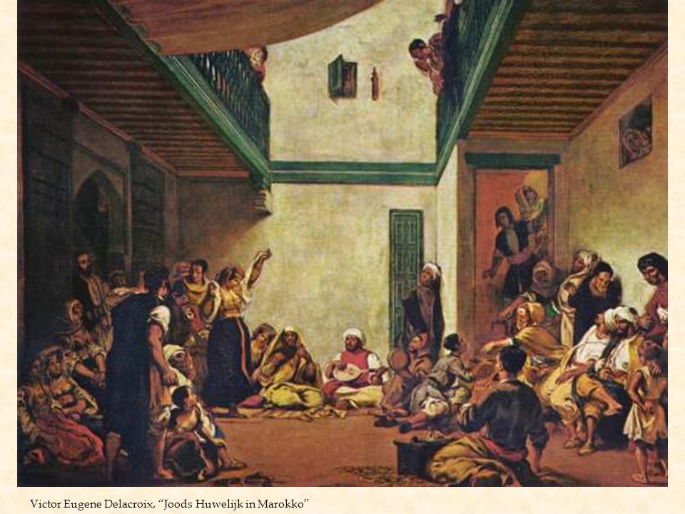 """Victor Eugene Delacroix, """"Joods Huwelijk in Marokko"""""""