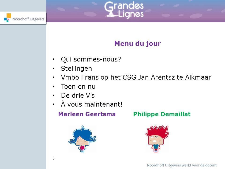 Stellingen Ik vind grammatica het belangrijkste voor het vak Frans.