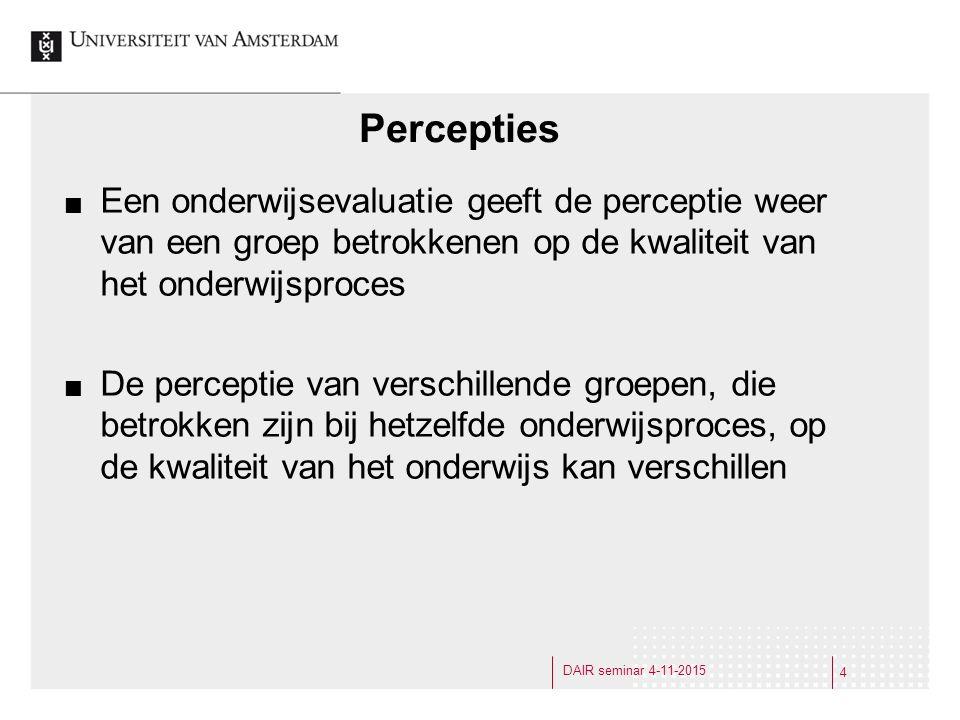 Normatief kader We stellen impliciet verschillende verwachtingen / kaders voor verschillende groepen (wellicht terecht): v.b.