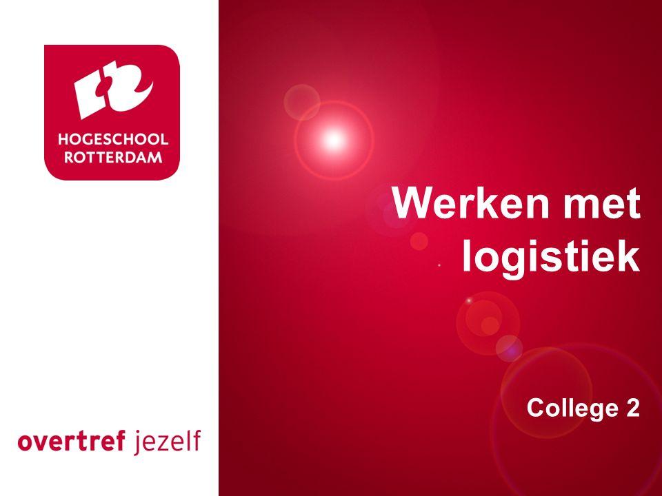 Presentatie titel Rotterdam, 00 januari 2007 Werken met logistiek College 2