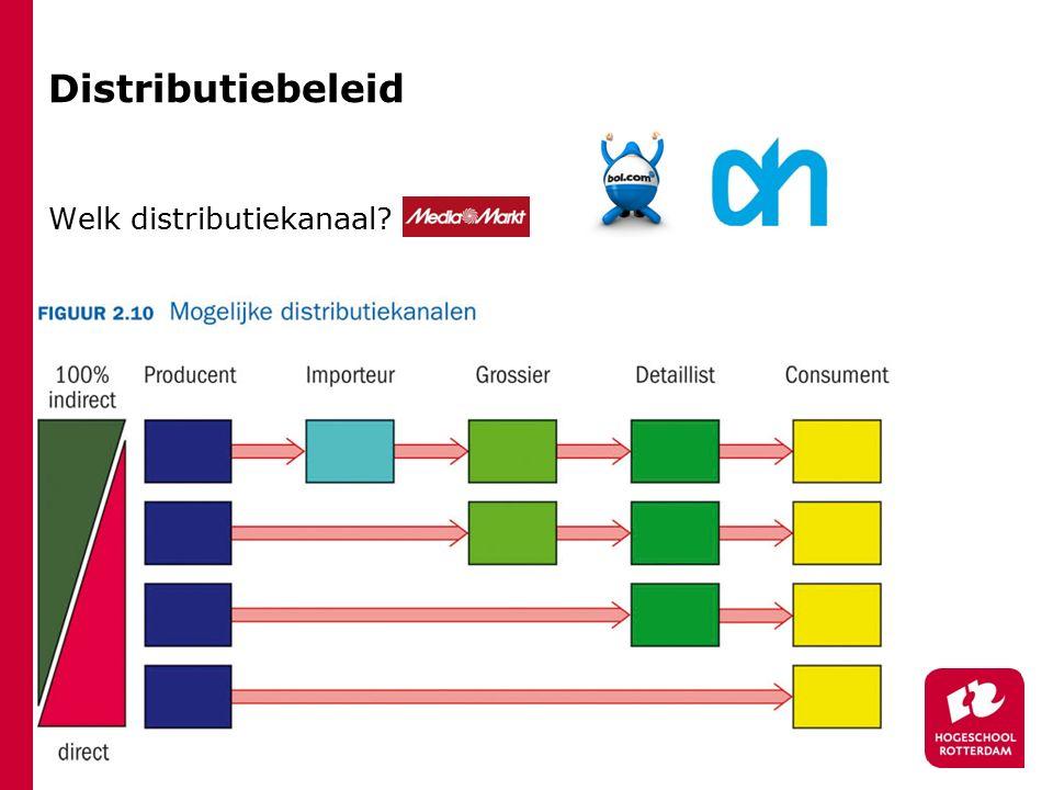 Distributiebeleid Welk distributiekanaal?