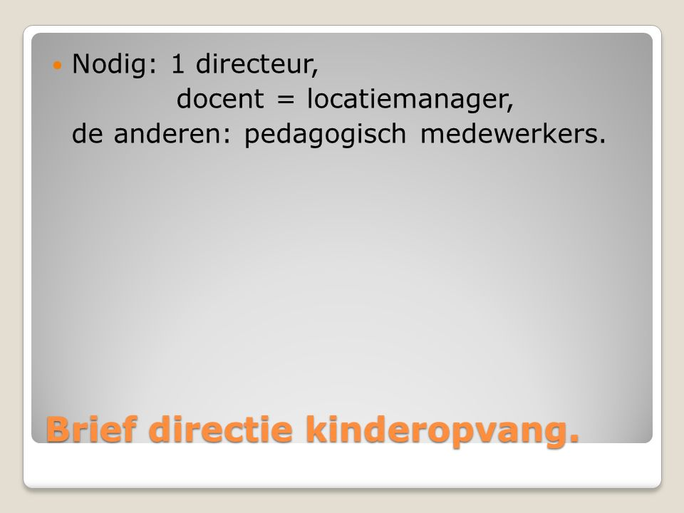 Simulatie- het team Jeugdzorg Film met een aantal docenten als jeugdbeschermer .
