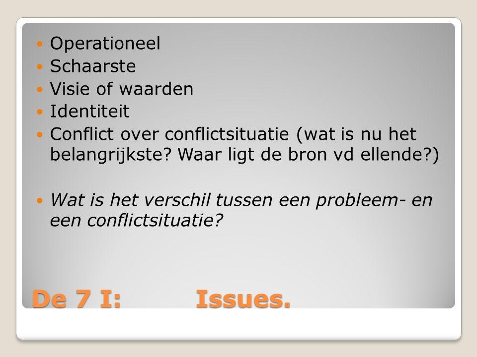 De 7 I: Issues.