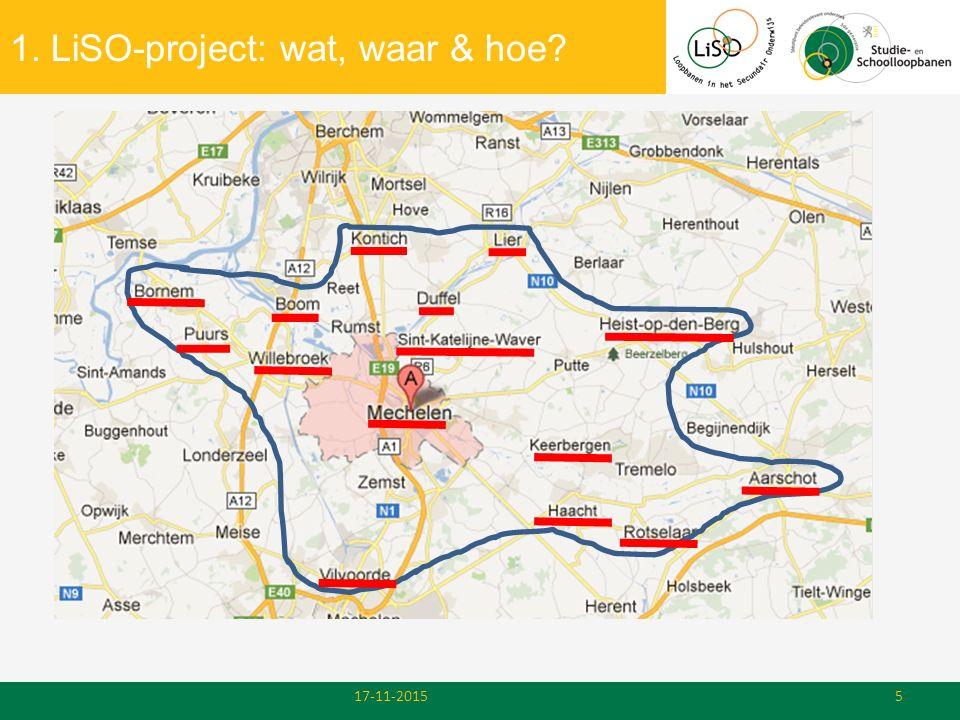 Inhoud presentatie 1.LiSO-project: wat, waar, hoe.