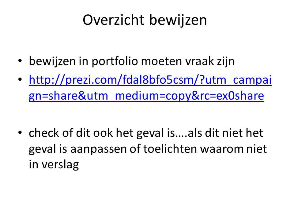 Overzicht bewijzen bewijzen in portfolio moeten vraak zijn http://prezi.com/fdal8bfo5csm/?utm_campai gn=share&utm_medium=copy&rc=ex0share http://prezi