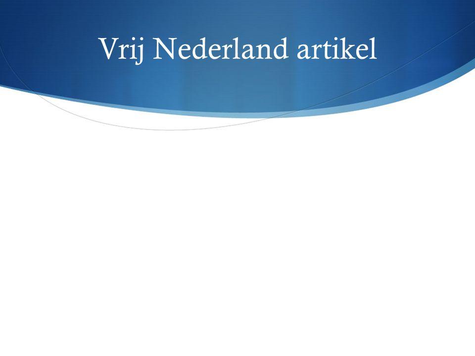 Vrij Nederland artikel