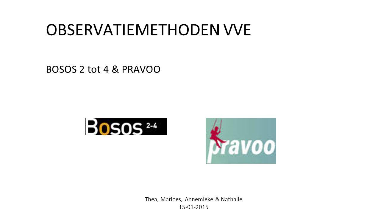 OBSERVATIEMETHODEN VVE BOSOS 2 tot 4 & PRAVOO Thea, Marloes, Annemieke & Nathalie 15-01-2015