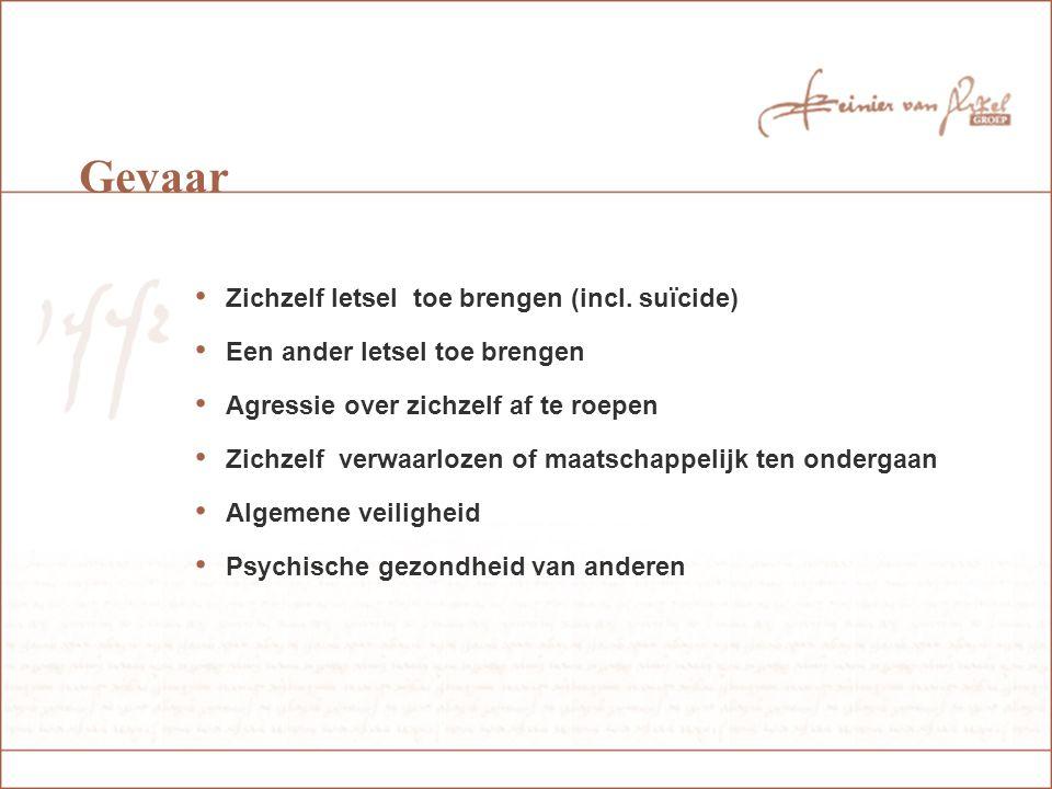 Inbewaringstelling Voorwaarden: - Betrokkene veroorzaakt onmiddellijk gevaar - Vermoeden van geestesstoornis - Gevaar kan alleen worden afgewend door gedwongen opname - Betrokkene is niet bereid tot vrijwillige opname