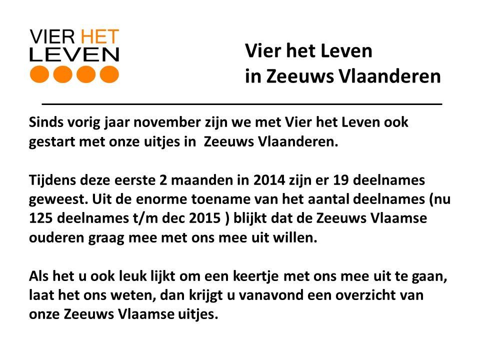 Sinds vorig jaar november zijn we met Vier het Leven ook gestart met onze uitjes in Zeeuws Vlaanderen.