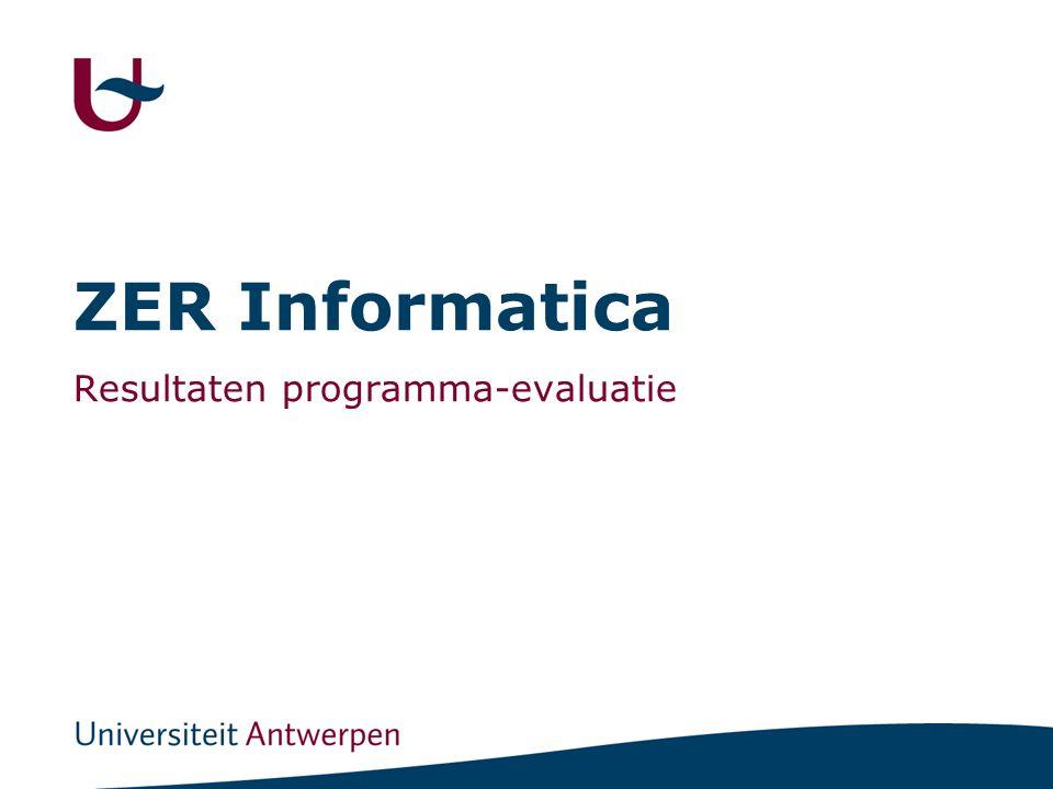 ZER Informatica Resultaten programma-evaluatie