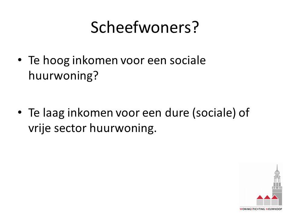 Scheefwoners? Te hoog inkomen voor een sociale huurwoning? Te laag inkomen voor een dure (sociale) of vrije sector huurwoning.