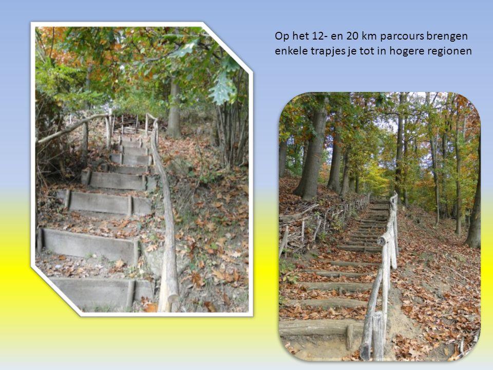 Op het 12- en 20 km parcours brengen enkele trapjes je tot in hogere regionen