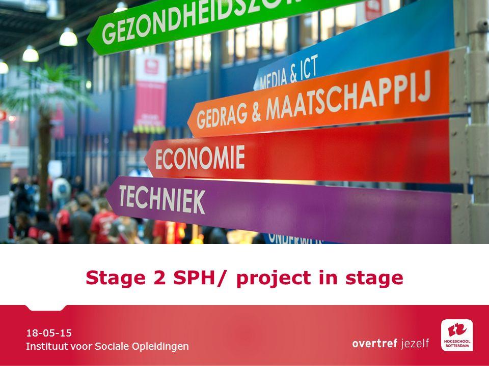Stage 2 SPH/ project in stage 18-05-15 Instituut voor Sociale Opleidingen