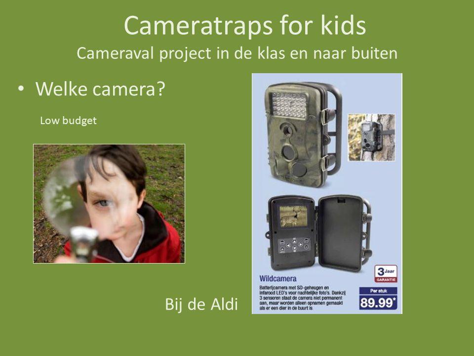 Cameraval project in de klas en naar buiten Welke camera.