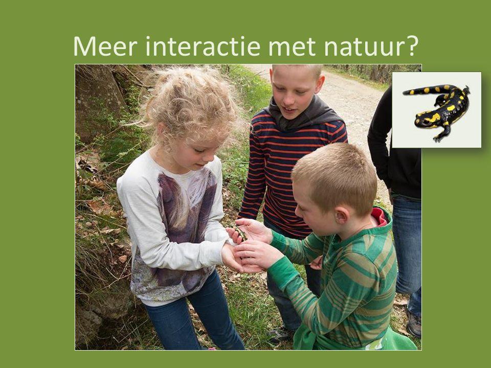 Meer interactie met natuur