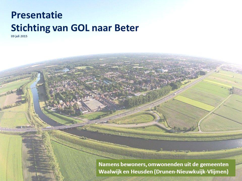 Presentatie Stichting van GOL naar Beter 09 juli 2015 Namens bewoners, omwonenden uit de gemeenten Waalwijk en Heusden (Drunen-Nieuwkuijk-Vlijmen)