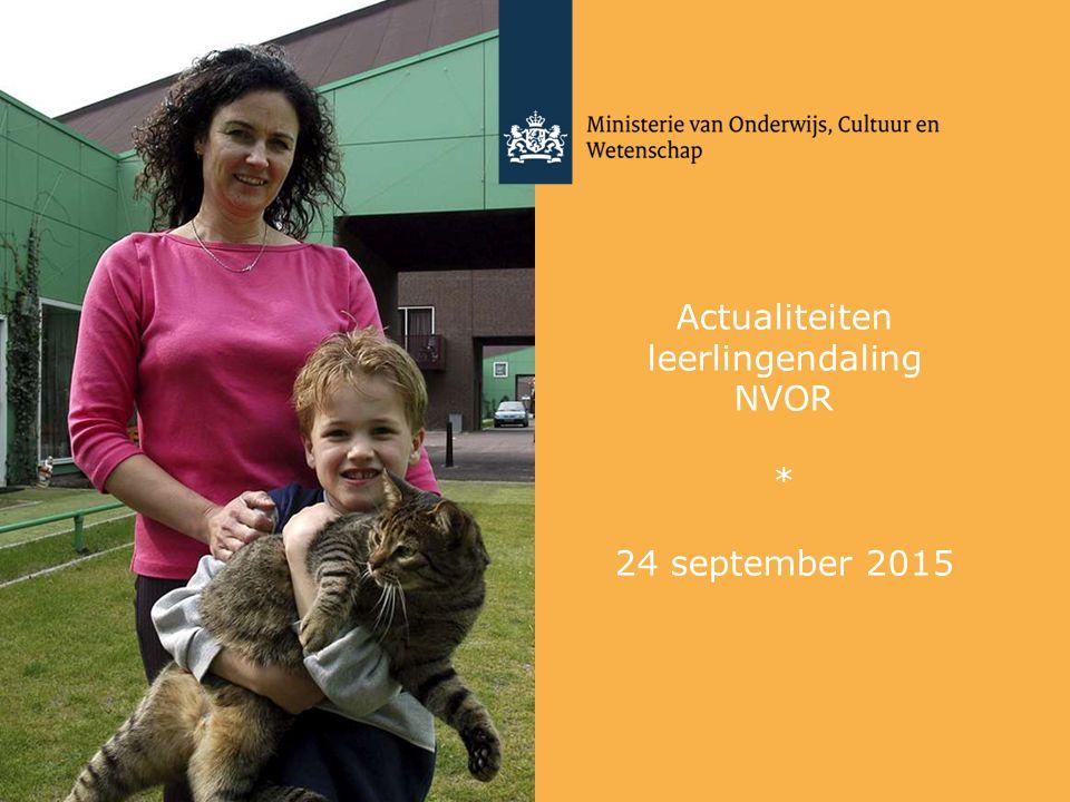 Actualiteiten leerlingendaling NVOR * 24 september 2015