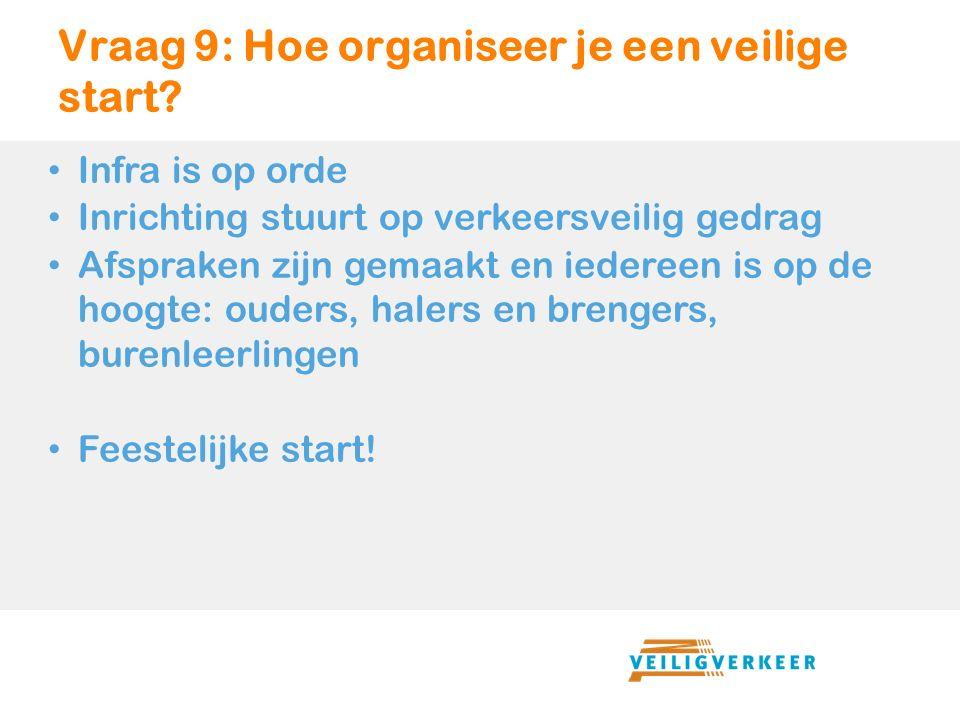 Vraag 9: Hoe organiseer je een veilige start.