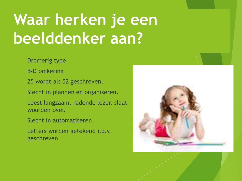 Screening: http://beeldenbrein.nl/BDtest/test%20taal%20of%20beeld2.html