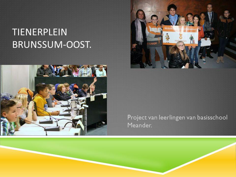 TIENERPLEIN BRUNSSUM-OOST. Project van leerlingen van basisschool Meander.