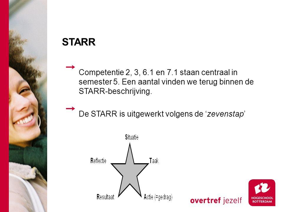 STARR Competentie 2, 3, 6.1 en 7.1 staan centraal in semester 5.