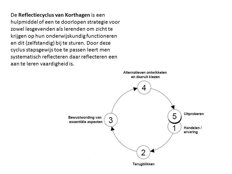 De Reflectiecyclus van Korthagen is een hulpmiddel of een te doorlopen strategie voor zowel lesgevenden als lerenden om zicht te krijgen op hun onderw