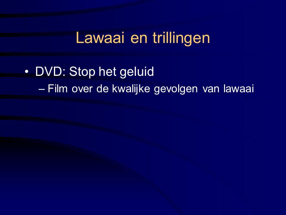 Lawaai en trillingen DVD: Stop het geluid –Film over de kwalijke gevolgen van lawaai