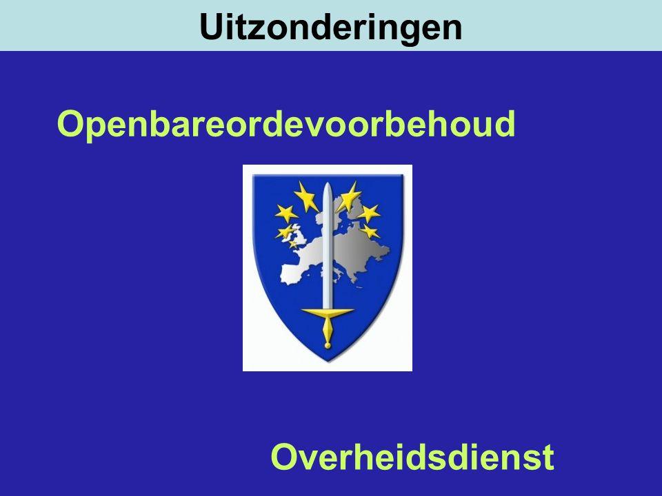 Uitzonderingen Openbareordevoorbehoud Overheidsdienst